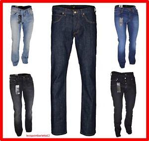 Jeans Lee Knox da uomo regular denim svasati elasticizzato 42 44 46 w30 w32 blue