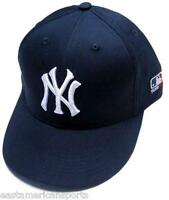 New York Yankees MLB OC Sports Hat Cap Solid Blue White NY Logo Team Adjustable