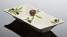 BASSANO rechteckige Oliven Antipastischale Ausgefallene italienische Keramik 30