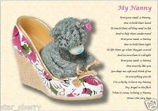 NANNY, NANA, GRAN, NAN, GRANDMA, GRANNY  personalised poem (Laminated Gift)