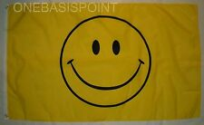 3'x5' Happy Smiley Face Flag Outdoor Banner Huge Smiling Yellow Party Joy 3x5