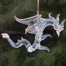 Dragon Figurine Christmas Tree Ornament Glass Crystal