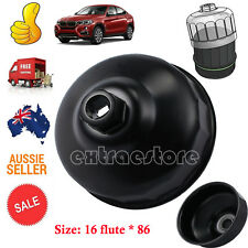 16 Flutes 86mm Oil Filter Wrench Cap Housing Tool Remover for BMW and VOLVO