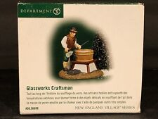 (1) Department 56 Heritage New England Vilage #56.56689 Glassworks Craftman