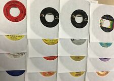 50 lot 45 RPM Records 50s 60s Rock Roll 70s Guess Who Rolling Stones Tokens