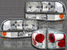 1998-2004 CHEVY S10 PICKUP CLEAR HEADLIGHTS + BUMPER LIGHTS + TAIL LIGHTS