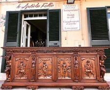 MUSEALE ANTICA SERVANTE BAROCCO ITALIANO  RICCHE SCULTURE INTAGLIATE LEGNO