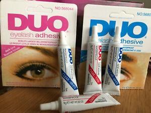 Duo Adhesive False Eyelash Glue Super Strong Dark Tone or Clear Waterproof UK