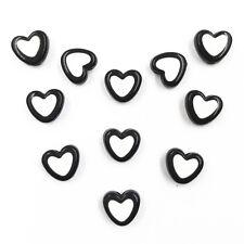 100 Pcs Wholesale Heart Acrylic Beads Jewelry Making Handmade 12 Colors Gift
