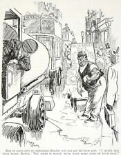 INFURIATED HAWKER 1923 Charles Grave water-cart PUNCH CARTOON PRINT