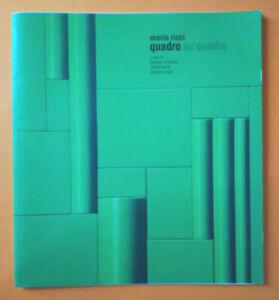 Libro Book Pittura G.D'ANDREA-R.AURELI-G.ARGAN Mario Ricci Quadro Su Quadro 2016
