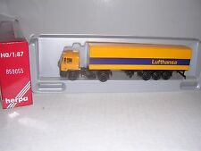 """Herpa #859055 Man F90 Cab w/40' """"Lufthansa"""" Container Trailor """"Yellow"""" H.O.Gauge"""