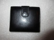 Vintage Tiffany & Co. Black Leather Wallet Coin Purse Card Case --Superb!