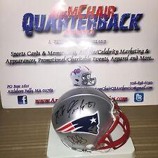 Gronkowski Slater Chung Hernandez Autographed New England Patriots Mini Helmet