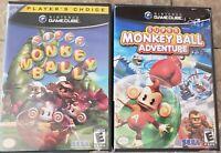 Super Monkey Ball 1 & Adventures (Nintendo GameCube, 2001) No Manuals TESTED