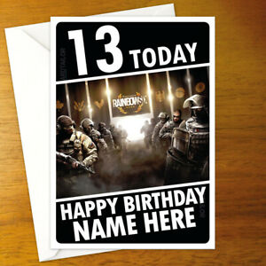 RAINBOW SIX SIEGE Personalised Birthday Card - A5 montagne pulse hibana finka