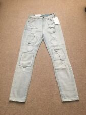 7 For All Mankind Distressed Super Skinny Light Wash Ankle Jeans Sz 25 NWT
