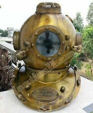 Vintage Style US Navy Mark V Divers Diving Helmet Antique Morse Scuba Full Size
