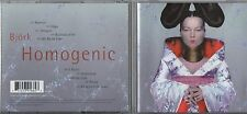 BJORK CD HOMOGENIC 10 TRACCE made in the EU  1997