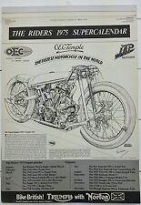 VINTAGE.THE RIDERS 1975(MOTORCYCLE) SUPERCALENDER.COMPLETE.TRIUMPH/NORTON.PROP.