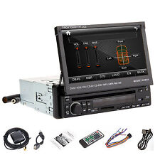 """Anti-Thief HD 7"""" 1Din LCD Touch Screen Stereo In Deck Car DVD Player iPod RDS,BT"""