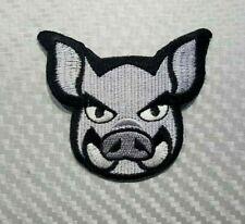 PIG animal zoo hunter biker boar wild cartoon Embroidered Iron Sew On Patch Logo