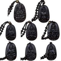 Collana con pendente di Talismano Amuleto Fortunato di Buddha intagliato a manCR