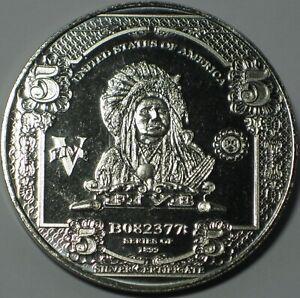 UNITED STATES OF AMERICA SERIES 1899 NICKEL BULLION ROUND .995 NICKEL 1 OZ