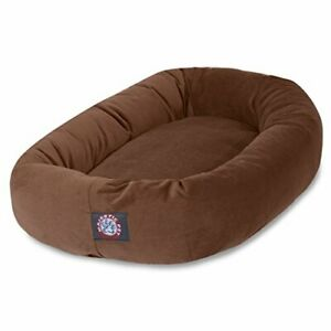 40 inch Rust Suede Bagel Dog Bed By Majestic Pet Products