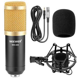 Neewer NW800 Microphone Pro studio broadcasting recording kit w/ Shock Mount GLD