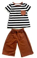 Hair Bow Company Rust And Stripes Cute Toddler Outfit (4/5) Large Baby Kids Bow