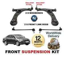 FOR TOYOTA AVENSIS 03> FR 2X WISHBONE ARMS + STABILISER LINK BARS SUSPENSION KIT