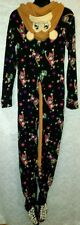 Joe Boxer Party Monkey Hooded Footed Pajamas Costume w Tail NEW M LAST ONE