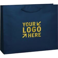 100 Custom Matte Laminated Euro Tote Bag Printed w/ Your Logo Or Message 16x6x12