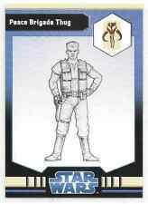 2009 Star Wars Miniatures Peace Brigade Thug Stat Card Only Near Mint