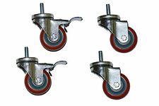 4 schwere hochwertige Lenkrollen Transportrollen Bockrollen, 2 davon mit Bremsen