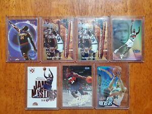 Antoinio McDyess 7 Card Lot 90s Era cards Fleer, Finest, Flair Showcase, Ultra