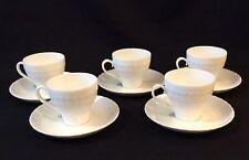 5 Hutschenreuther Cappucino Cups & Saucers White Bone China