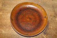 Vtg Mid Century Modern /Hollywood Regency Ceramic Pottery Redware /Fish Dish