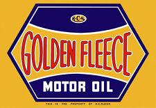 Golden Fleece Motor Oil Metal Sign