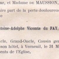 Antoine Adolphe Du Fay Verneuil 1881 Chateau De Sévigni Argentan Orne Vicomte