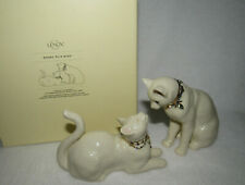 Lenox Awake to A Kiss Cat Figurine Set #6244255 - Mib