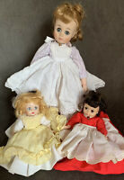 3 Madame Alexander Little Women Dolls Meg Alexander-Kins Amy & Jo Parts/Repair