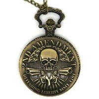 MO0017 - Montre Gousset 2nd Amendment Armes USA Skull