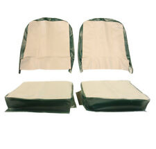 Seat Cover Assembly Left And Right Light Gray And Granada Green 1957-1964 CJ3...