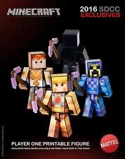 2016 SDCC MINECRAFT SURVIVAL MODE PLAYER ONE ALL 3 SKINS HE-MAN TEELA SKELETOR
