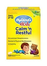 Hyland's 4 Kids Natural Calm'n Restful 125 Tablets (2Pack)