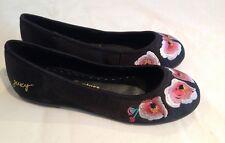 Juicy Couture New Black Leather Satin Pumps Shoes Girls UK Size 12 (EU 31 US 13)