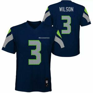 SEATTLE SEAHAWKS NFL RUSSELL WILSON #3 YOUTH TEAM APPAREL JERSEY MEDIUM 10-12