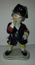 Antique Staffordshire Figural Englishman Snuff Taker Ceramic Toby Jug Decanter